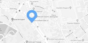 Mappa della sede di Trieste dello studio Cisilino e Partners