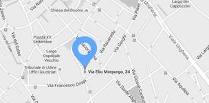 Mappa della sede di Udine di Cisilino e Partners